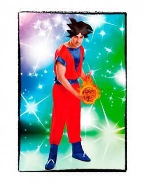 Costume Guerriero Goku Adulto per Carnevale