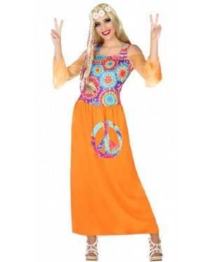 Costume Hippie Arancione Donna per Carnevale   La Casa di Carnevale
