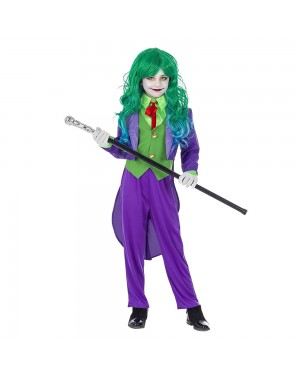 Costume Joker Bambina per Carnevale | La Casa di Carnevale