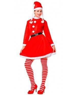 Costume Mamma Natale con Trecce Tg. M/L