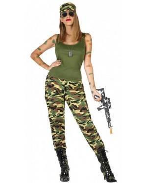 Costume Militare Mimetico Donna per Carnevale | La Casa di Carnevale