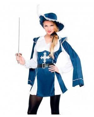 Costume Moschettiera Azzurra Tg. M/L