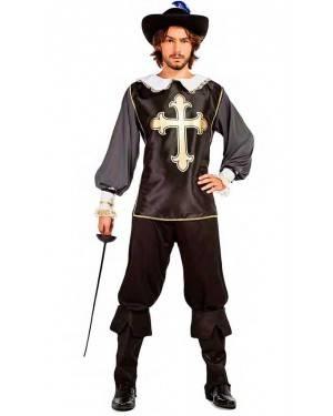 Costume Moschettiere Nero Taglia M-L per Carnevale