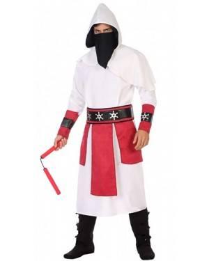 Costume Ninja Bianco Adulto per Carnevale | La Casa di Carnevale