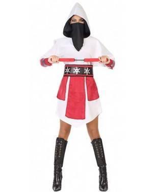 Costume Ninja Bianco Donna per Carnevale | La Casa di Carnevale