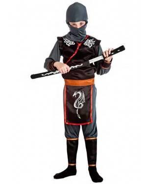Costume Ninja Drago Taglia 10-12 Anni per Carnevale
