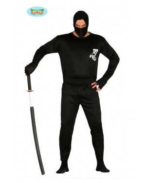Costume Ninja Nero Adulto per Carnevale