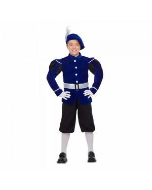 Costume Paggio Azzurro Bambini per Carnevale | La Casa di Carnevale