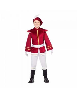 Costume Paggio Rosso Bambini per Carnevale | La Casa di Carnevale
