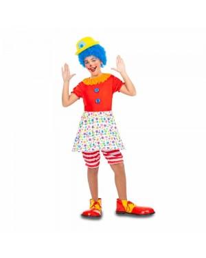 Costume Pagliaccia Bambina  per Carnevale | La Casa di Carnevale