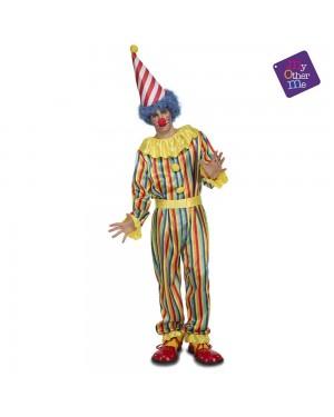 Costume Pagliaccio Strisce M/L per Carnevale | La Casa di Carnevale