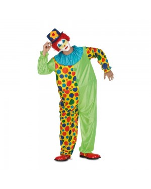 Costume Pagliaccio Tuta Cerchio M/L per Carnevale | La Casa di Carnevale