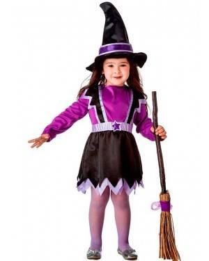 Costume Piccola Strega Viola Baby per Carnevale | La Casa di Carnevale