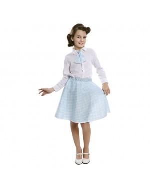 Costume Pin-Up Set Blu Bambina (Gonna ,Cravatta) per Carnevale | La Casa di Carnevale
