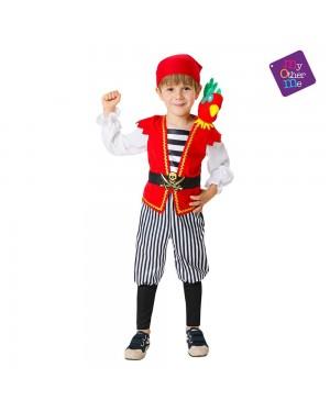 Costume Pirata con Pappagallo de Peluche per Carnevale | La Casa di Carnevale
