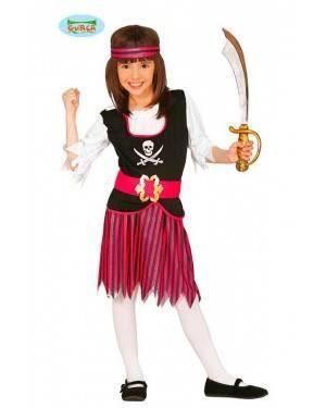Costume Pirata Fucsia Bambina