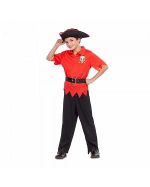 Costume Pirata Rosso Bambino per Carnevale | La Casa di Carnevale