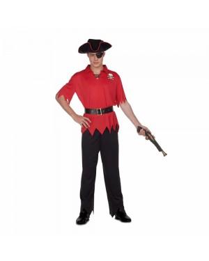 Costume Pirata Rosso M/L per Carnevale | La Casa di Carnevale