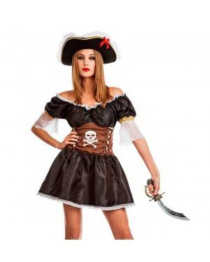 Costume Pirata Sexy Nera per Carnevale | La Casa di Carnevale