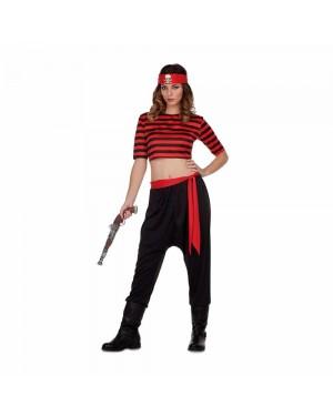 Costume Pirata Teschio Donna M/L per Carnevale | La Casa di Carnevale