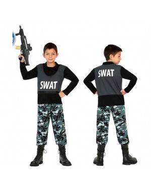 Costume Polizia S.W.A.T 10-12 Anni