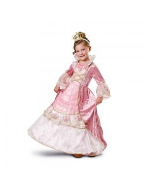 Costume Principessa Elegante Bambina per Carnevale | La Casa di Carnevale