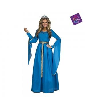Costume Principessa Medievale Blu M/L per Carnevale | La Casa di Carnevale
