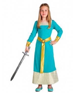 Costume Principessa Medievale Blu per Carnevale | La Casa di Carnevale