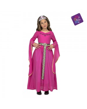 Costume Principessa Medievale Rosa  Bambina per Carnevale | La Casa di Carnevale
