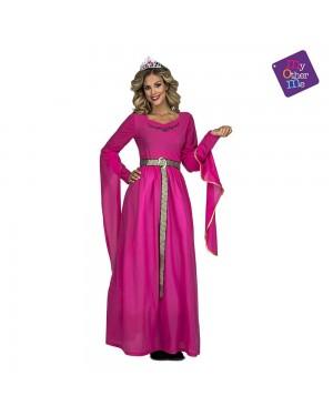 Costume Principessa Medievale Rosa  M/L per Carnevale | La Casa di Carnevale
