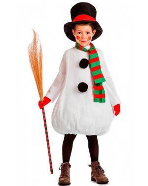 Costume Pupazzo di Neve Tg. 3-4 Anni