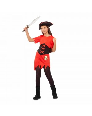 Costume Ragazza Pirata Rossa  per Carnevale | La Casa di Carnevale