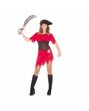 Costume Ragazza Pirata Rossa M/L  per Carnevale | La Casa di Carnevale
