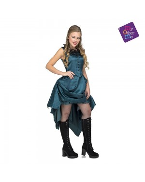 Costume Ragazza Saloon Blu M/L per Carnevale | La Casa di Carnevale