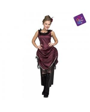 Costume Ragazza Saloon Rosa M/L per Carnevale | La Casa di Carnevale