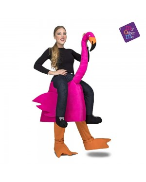 Costume Ride-On Fenicottero Rosa M/L per Carnevale | La Casa di Carnevale