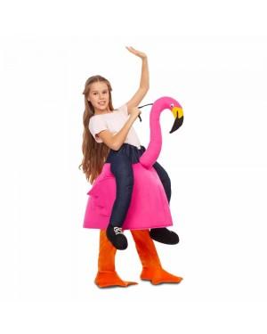Costume Ride-On Fenicottero Rosa7-9 Anni per Carnevale | La Casa di Carnevale