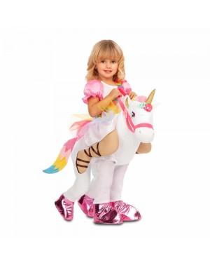 Costume Ride-On Principessa Unicorno Bambina per Carnevale | La Casa di Carnevale
