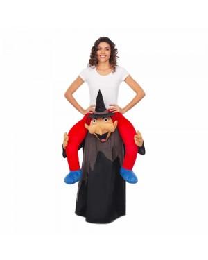 Costume Ride-On Strega Nera M/L per Carnevale | La Casa di Carnevale