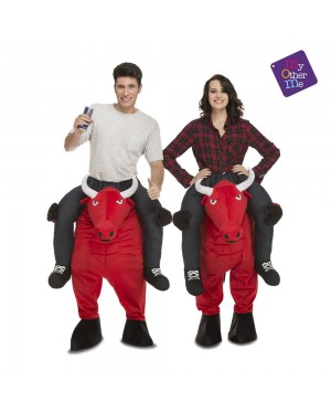 Costume Ride-On Toro Rosso M/L per Carnevale | La Casa di Carnevale