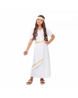 Costume Romana Bianca Bambina per Carnevale | La Casa di Carnevale