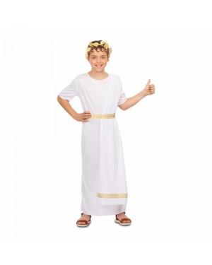 Costume Romano Bianco Bambino per Carnevale | La Casa di Carnevale