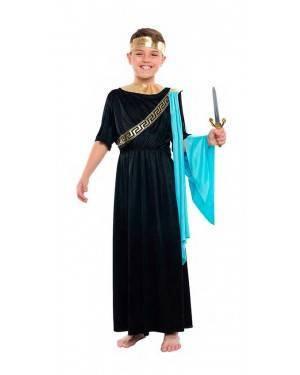 Costume Senatore Romano Nero Tg. 10-12 Anni