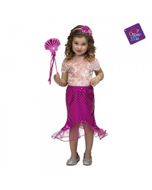 Costume Sirenetta Rosa 3-6 Anni per Carnevale | La Casa di Carnevale