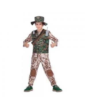 Costume Soldato Mimetico Bambino per Carnevale | La Casa di Carnevale
