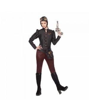 Costume Steampunk Aviatore Donna per Carnevale | La Casa di Carnevale