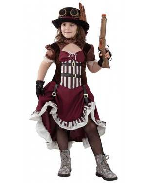 Costume da Steampunk Bambina per Carnevale | La Casa di Carnevale