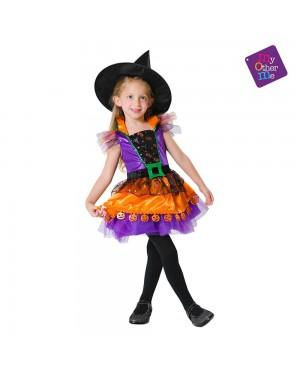 Costume Streguetta Zucca Bambina per Carnevale | La Casa di Carnevale