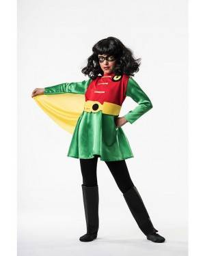 Costume  Super Eroina Robin T. 9 a 11 Anni