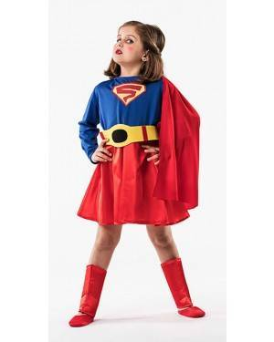 Costume  Super Eroina T. 3 a 5 Anni